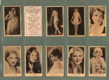 Cigarette cards Beauties of The World,Stage Cinema, Dancing